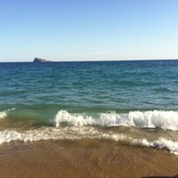 Photo taken at Platja de Ponent by A K. on 9/3/2012