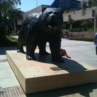 Photo taken at UCLA Bruin Statue by Pon L. on 8/2/2012