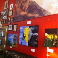 Photo taken at Michelangelo's Coffee & Wine Bar by Sara B. on 7/5/2012