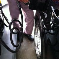 Photo taken at SPBU TOTAL Bumi Serpong Damai (BSD) by Maharrani on 5/5/2012
