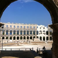 Photo taken at Arena Pula | The Pula Amphitheater by Celso F. on 8/24/2012