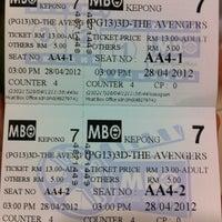 Photo taken at MBO Cinemas by Mohd Rosmizan on 4/28/2012