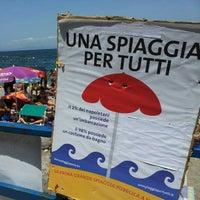 Photo taken at Castellammare Beach by Alessio V. on 7/15/2012