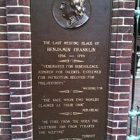 Photo taken at Benjamin Franklin's Grave by Anthony S. on 7/19/2012