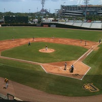 Photo taken at Bragan Field at the Baseball Grounds of Jacksonville by Andie P. on 7/25/2012