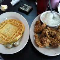 Photo taken at Ma Momma's House of Cornbread, Chicken & Waffles by James F. on 2/20/2012