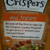 Photo taken at Crispers Fresh Salads, Soups and Sandwiches by Nicole R. on 2/3/2012