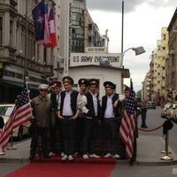 Photo taken at H Kochstr./Checkpoint Charlie by Michelle C. on 5/6/2012