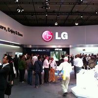 Photo taken at LG Electronics Booth   Halle 11.2 Stand 101 by Volkan O. on 9/2/2011