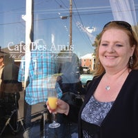 Photo taken at Cafe Des Amis by Tom B. on 3/24/2012