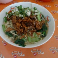 Photo taken at Mie Ayam Baso Bang Adi Kutoarjo by Nur K. on 11/26/2011