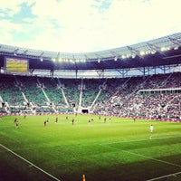 Photo taken at Stadion Wrocław by Marcin P. on 7/22/2012