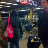 Photo taken at MTA Subway - 34th St/Penn Station (1/2/3) by Joe W. on 1/28/2011