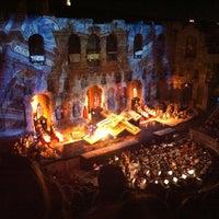 Photo taken at Herod Atticus Odeon by Alexa B. on 7/27/2012