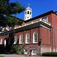 Photo taken at Harvard Hall by Caro B. on 8/27/2012