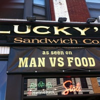 Photo taken at Lucky's Sandwich Co. by Rene Hollywood R. on 8/11/2012
