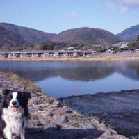 Photo taken at Togetsu-kyo Bridge by Takeshi N. on 12/31/2011