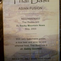 Photo taken at Thai Basil by Jim T. on 9/10/2011