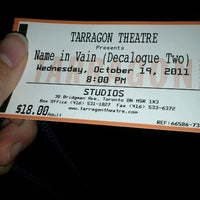 Photo taken at Tarragon Theatre by Dayes W. on 10/19/2011