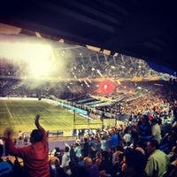 Photo taken at Estadio Juan Domingo Perón (Racing Club) by Kevin J. on 4/10/2012