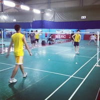 Photo taken at New Vision Badminton Academy by Edward H. on 8/18/2012