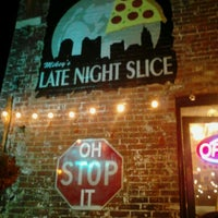 Photo taken at The Original Mikey's Late Night Slice by Dylan H. on 5/27/2012