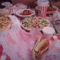 Photo taken at Portillo's Hot Dogs by April L. on 1/3/2012