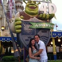 Photo taken at Shrek 4-D Adventure by Marco T. on 12/5/2011