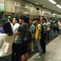 Photo taken at Braddell MRT Station (NS18) by Ekta C. on 1/15/2012