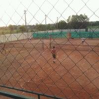 Photo taken at Röpte teniszpálya/lelátó :o) by Anikó Z. on 6/29/2012