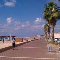 Photo taken at Leonardo Beach by Sasha on 10/1/2011