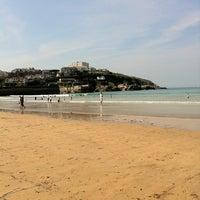 Photo taken at Towan Beach by Gareth T. on 4/19/2011