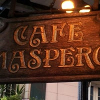 Photo taken at Cafe Maspero by Wayne on 8/25/2012