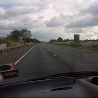 Photo taken at M56 Junction 12 / A557 by Kjartan H. on 9/5/2011