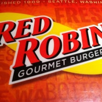 Photo taken at Red Robin Gourmet Burgers by Adrienne B. on 2/12/2011