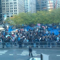 Photo taken at #OCCUPYWALLSTREET by Christina C. on 11/5/2011