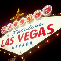 Photo taken at Welcome To Fabulous Las Vegas Sign by Anna R. on 4/24/2012