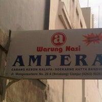 Photo taken at Warung Nasi AMPERA by Tri Y. on 12/23/2011