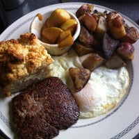 Photo taken at Sam's Morning Glory Diner by Stephany P. on 4/1/2012