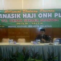 Photo taken at Hotel Kaisar by Afdal Haji Plus Umroh GSM on 9/8/2012