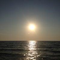 Photo taken at Clark Street Beach by Per J. on 8/3/2012