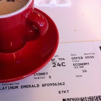 Photo taken at Qantas Business Lounge by Gary L. on 2/4/2012