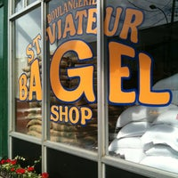 Photo taken at St-Viateur Bagel (La Maison du Bagel) by Lauren S. on 6/23/2012