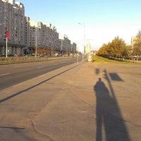 Photo taken at остановка Новосмоленская набережная by Pasha on 5/2/2012