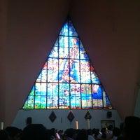 Photo taken at Parroquia de Nuestra Señora Aparecida del Brasil by Rychy J. on 5/20/2012