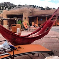 Photo taken at Ojo Caliente Mineral Springs Resort & Spa by Jeremy Z. on 7/28/2012