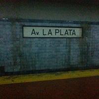 Photo taken at Estación Av. La Plata [Línea E] by Agustín B. on 9/3/2012