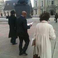 Photo taken at Thomas Paine Plaza by Brandon S. on 2/23/2012
