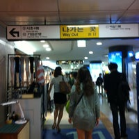 Photo taken at Gangnam Stn. by Midori K. on 5/18/2012