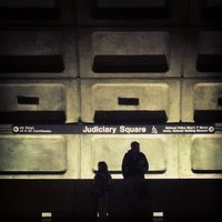 Photo taken at Judiciary Square Metro Station by Jonathan P. on 2/18/2012